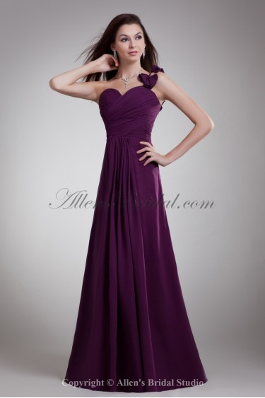 Chiffon Sweetheart Neckline Floor Length A-line Prom Dress