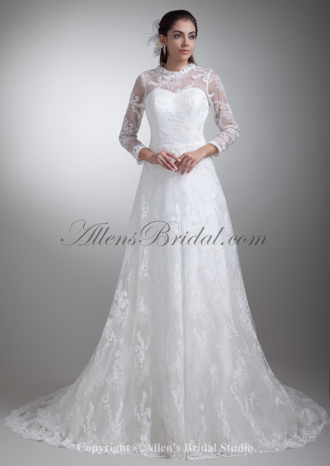 /796-6373/satin-and-lace-jewel-neckline-sweep-train-a-line-three-quarter-sleeves-wedding-dress.jpg