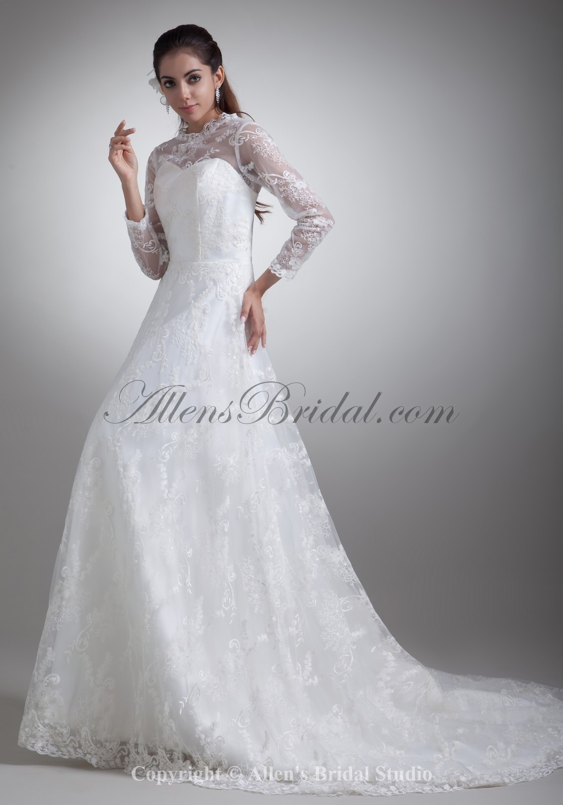 /796-6375/satin-and-lace-jewel-neckline-sweep-train-a-line-three-quarter-sleeves-wedding-dress.jpg