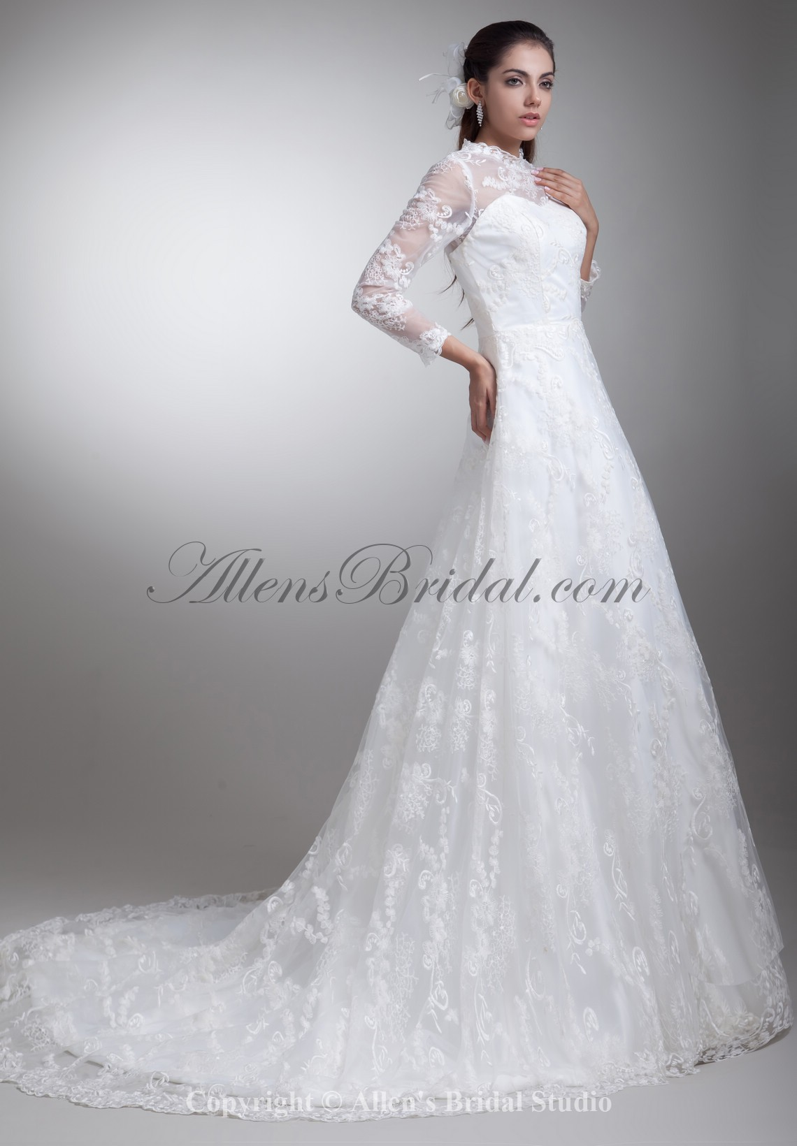 /796-6376/satin-and-lace-jewel-neckline-sweep-train-a-line-three-quarter-sleeves-wedding-dress.jpg