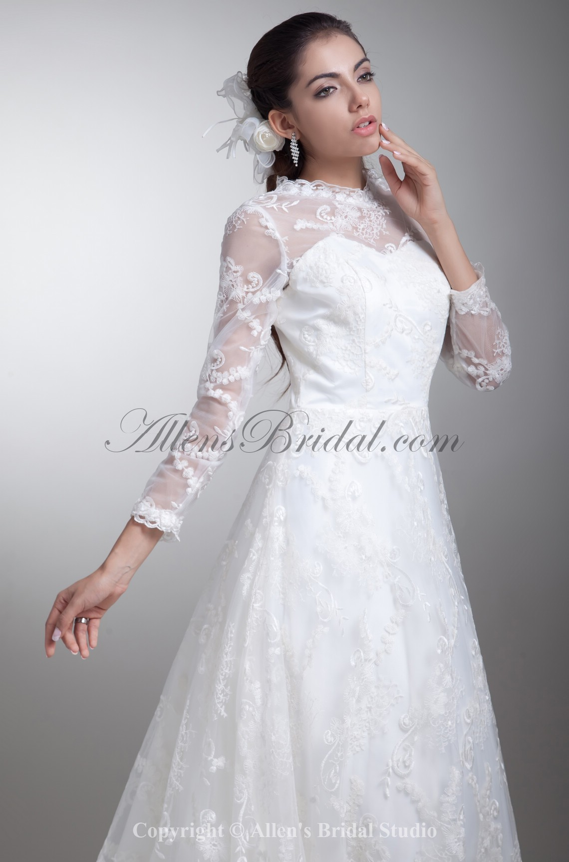 /796-6377/satin-and-lace-jewel-neckline-sweep-train-a-line-three-quarter-sleeves-wedding-dress.jpg