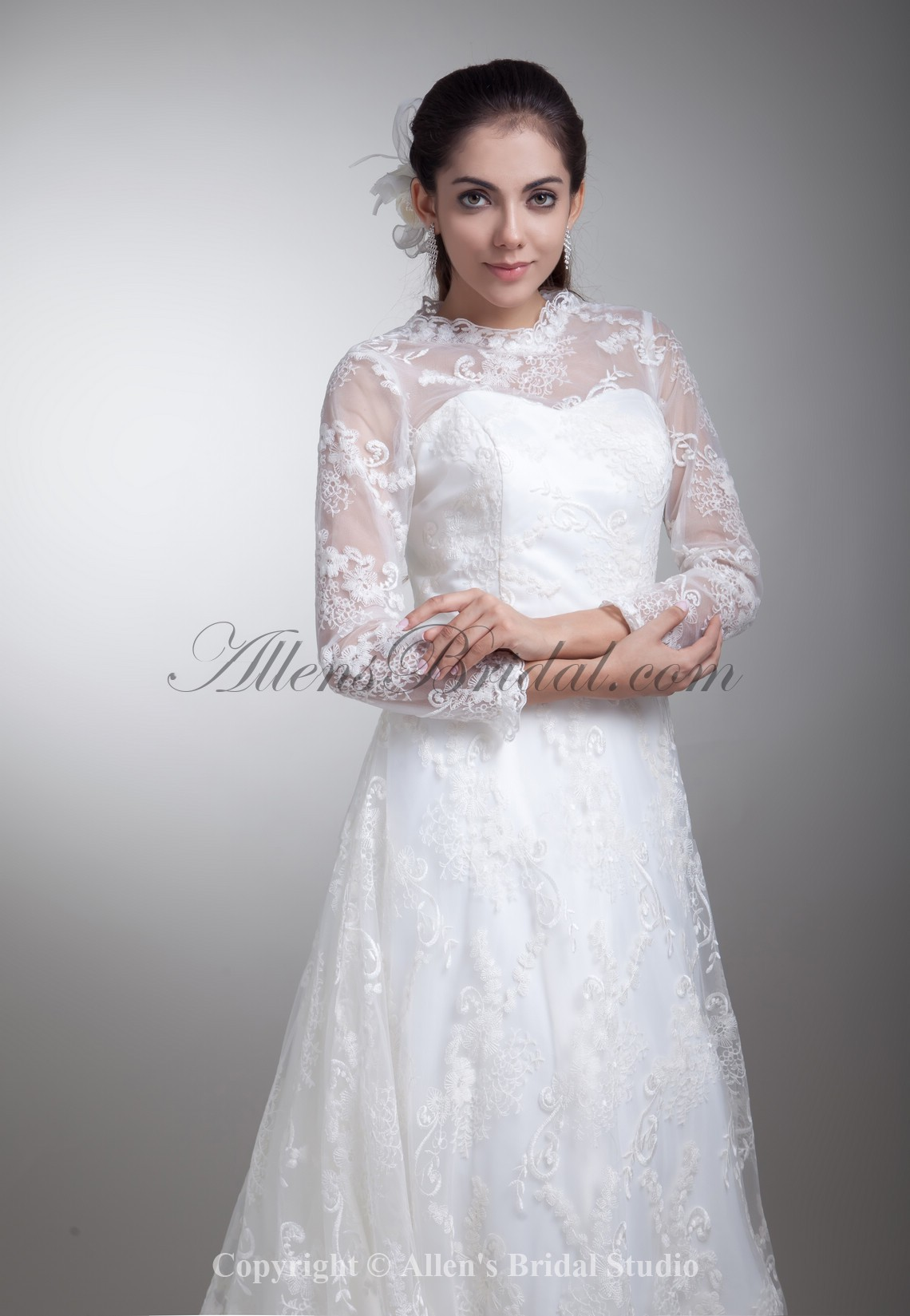 /796-6378/satin-and-lace-jewel-neckline-sweep-train-a-line-three-quarter-sleeves-wedding-dress.jpg