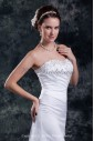 Net Sweetheart Neckline Sweep Train Sheath Embroidered Wedding Dress