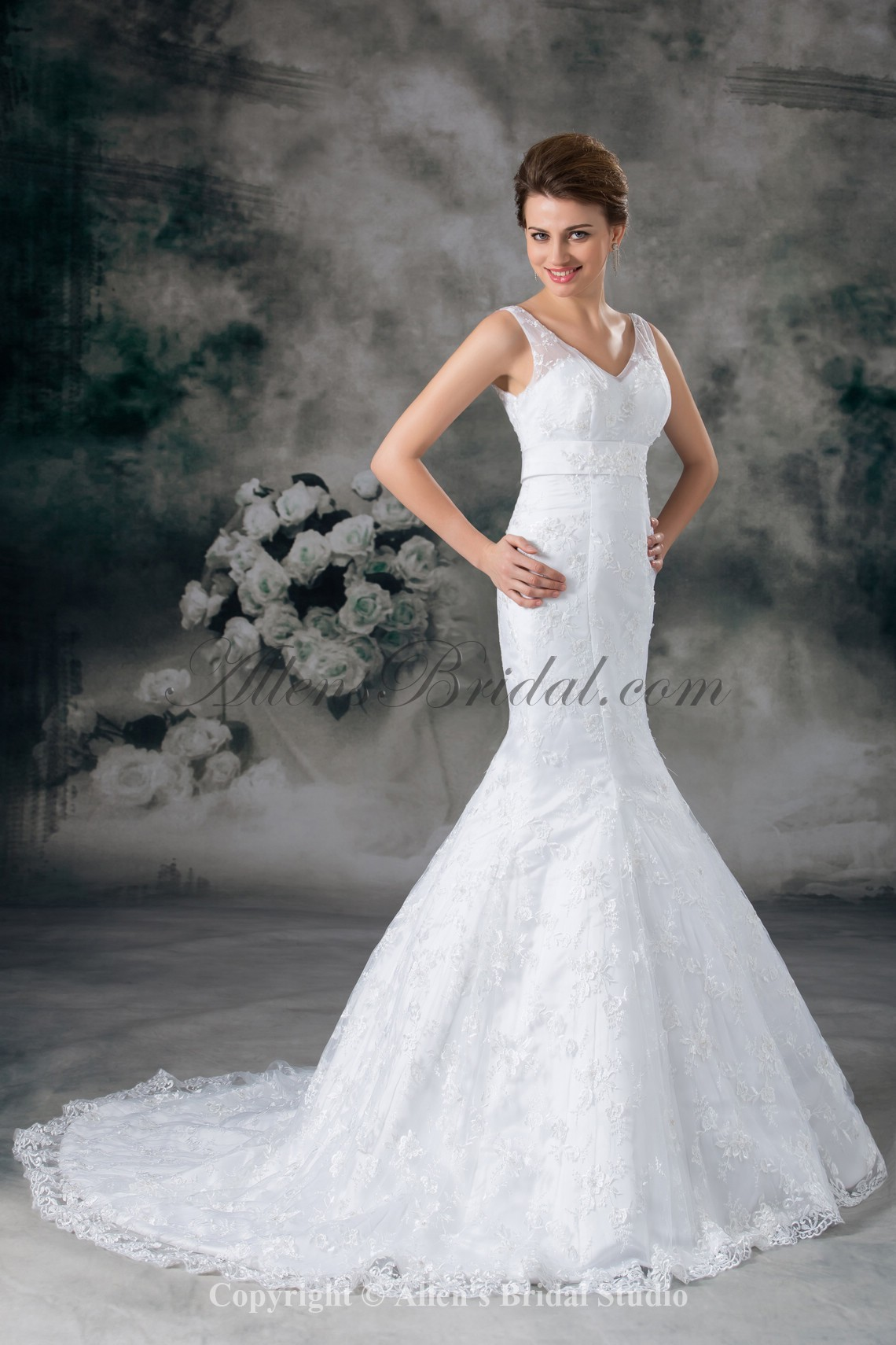 /949-7609/lace-v-neck-sweep-train-mermaid-wedding-dress.jpg