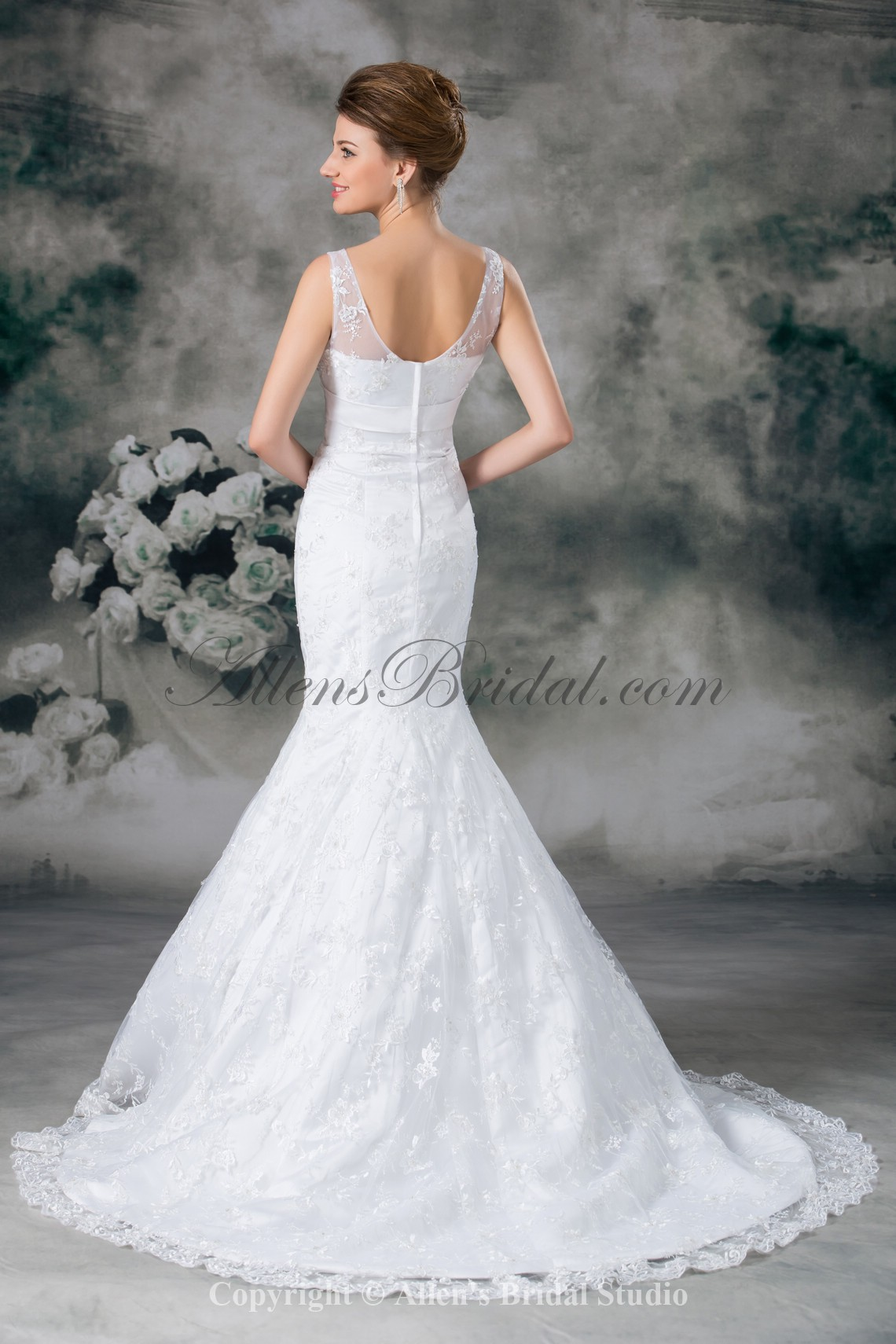 /949-7610/lace-v-neck-sweep-train-mermaid-wedding-dress.jpg